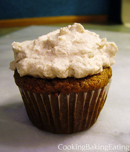 Apple Spice Cupcake with Cinnamon Whipped Cream Frosting