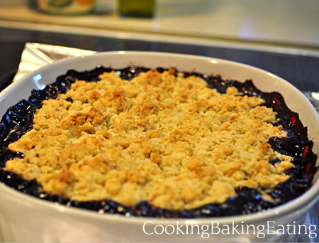 Hot and Fresh Blackberry Cobbler