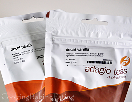 Adagio Decaf Peach and Decaf Vanilla Black Tea